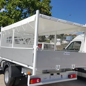 bache de camion benne en pvc blanc