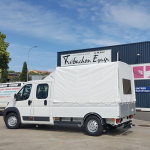 bache de camion en pvc blanc